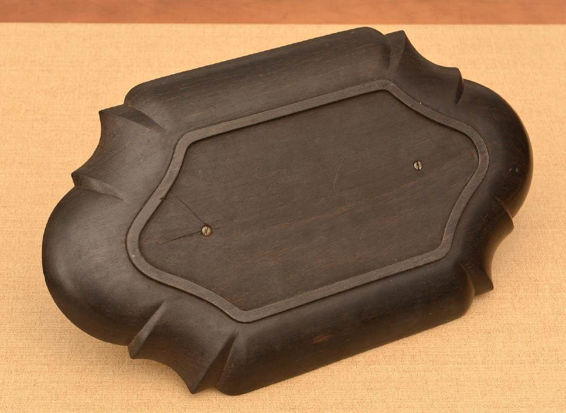 Louis XVI style bronze and ebony inkwell - 4
