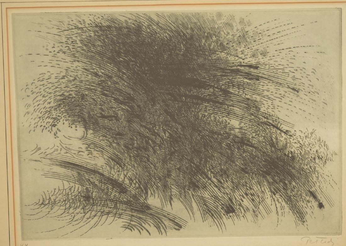 Gabor Peterdi, etching - 2