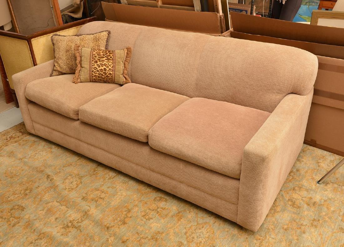 Avery Boardman herringbone upholstered sofa