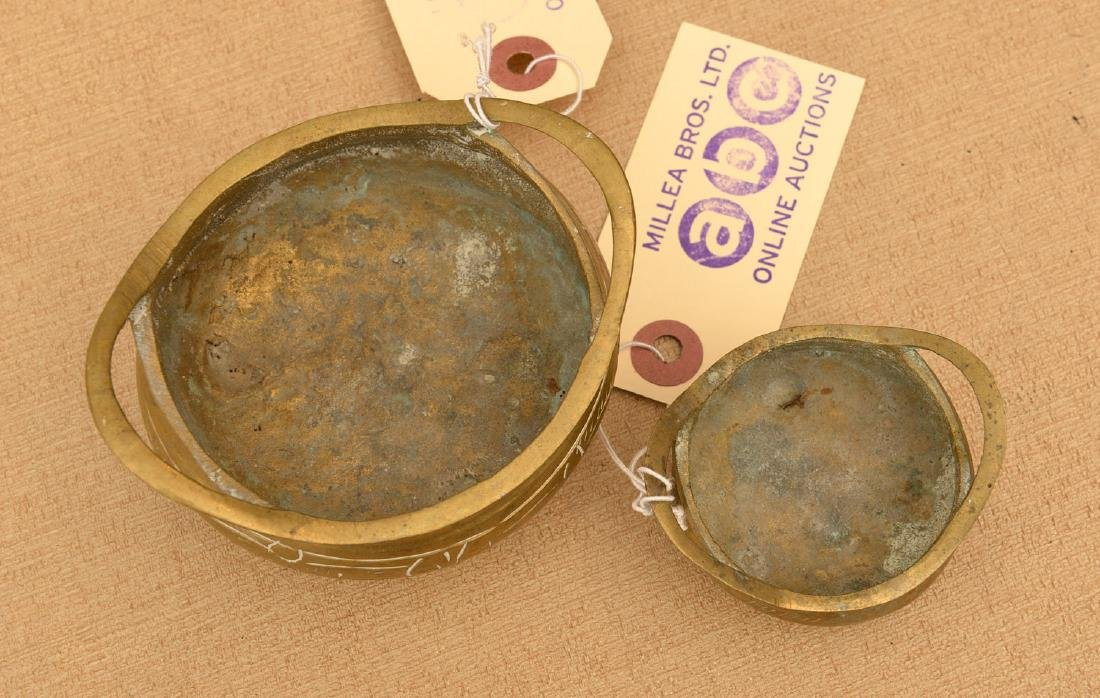 (2) Chinese miniature footed bronze censers - 2