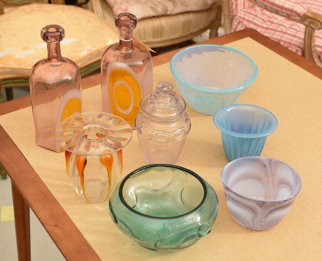Modernist blown glass group