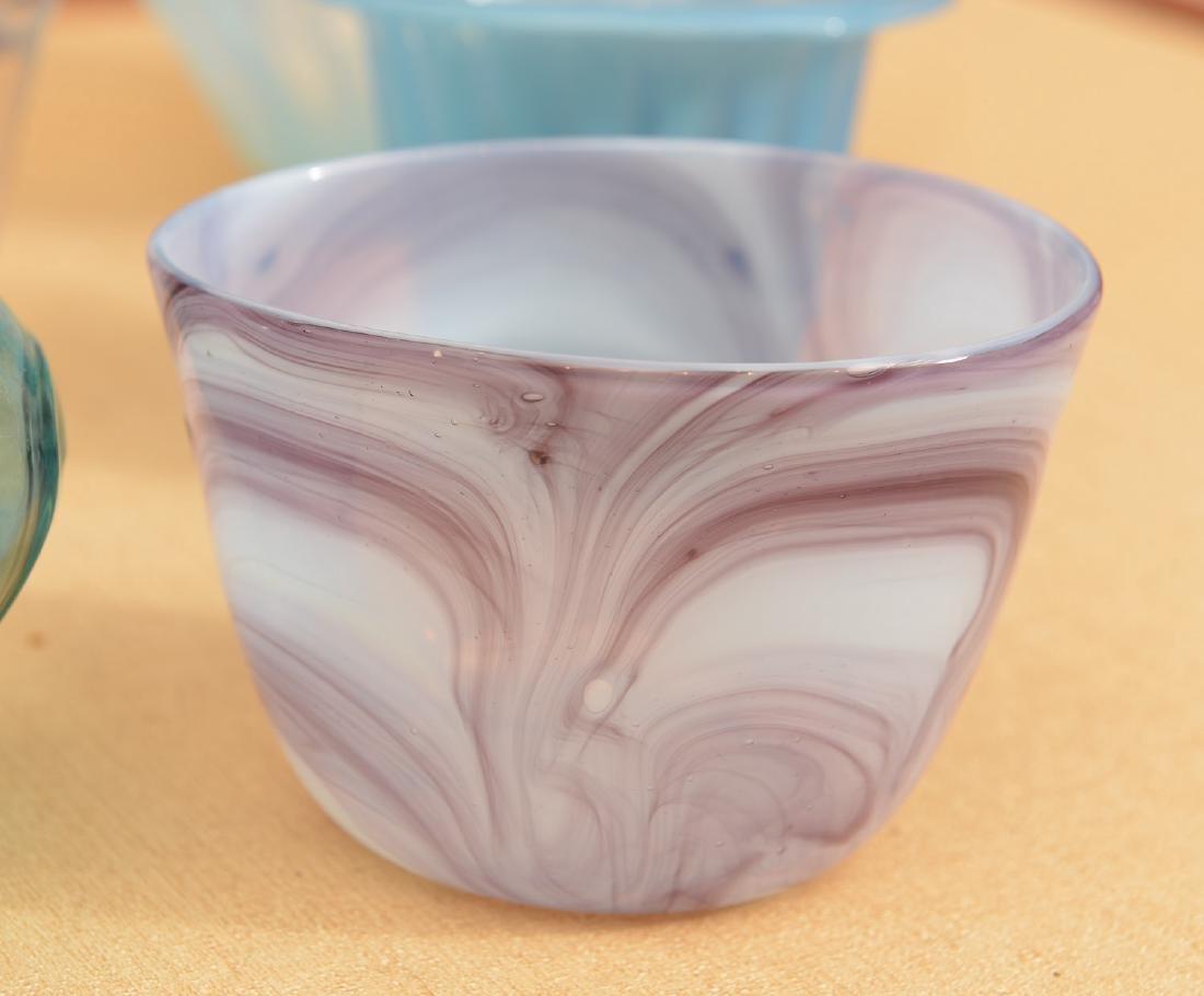 Modernist blown glass group - 2