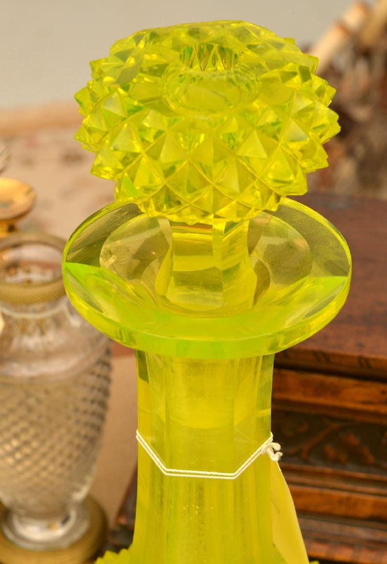 Nice group pressed/cut Uranium yellow glassware - 2