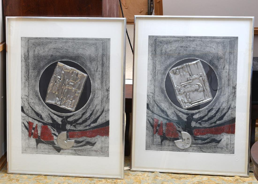 J.B. Thompson, pair lithographs