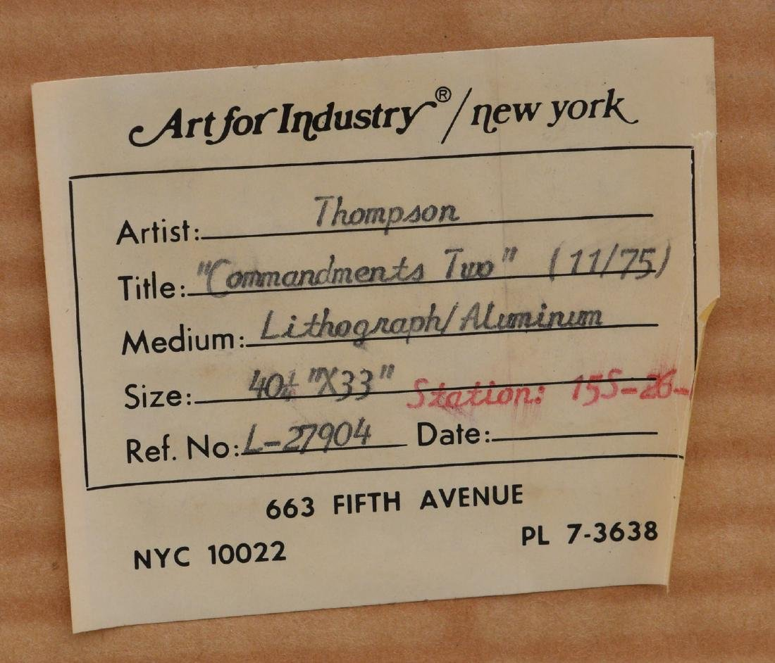 J.B. Thompson, pair lithographs - 9