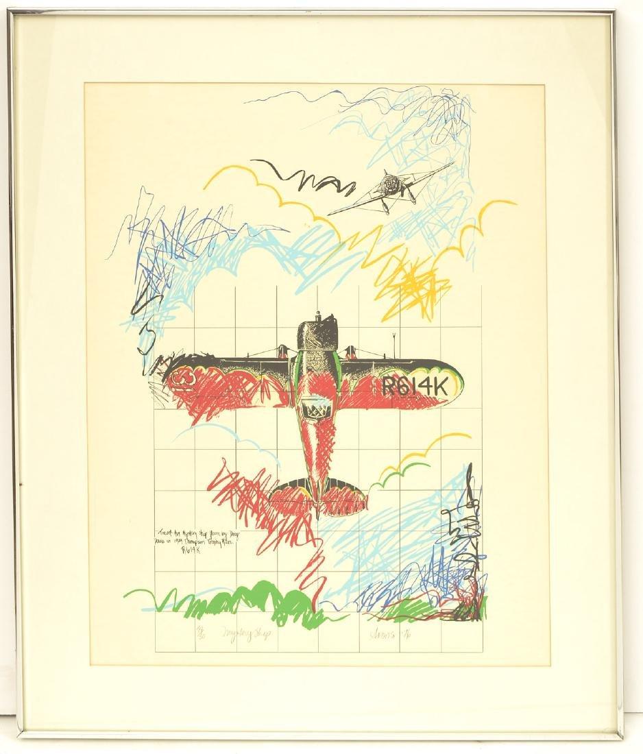 Joyce Arons, aviation color screenprint