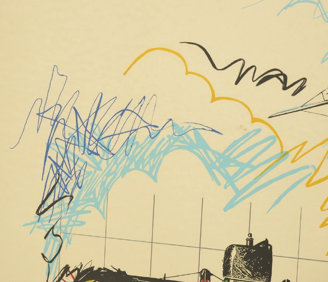 Joyce Arons, aviation color screenprint - 2