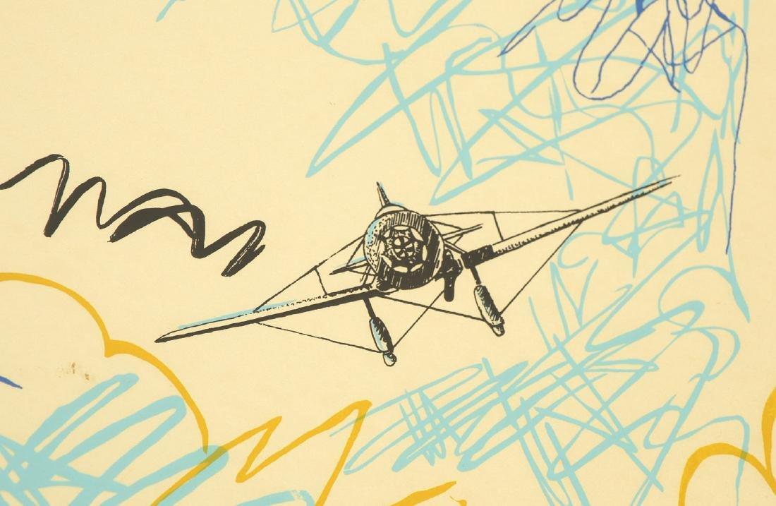 Joyce Arons, aviation color screenprint - 3
