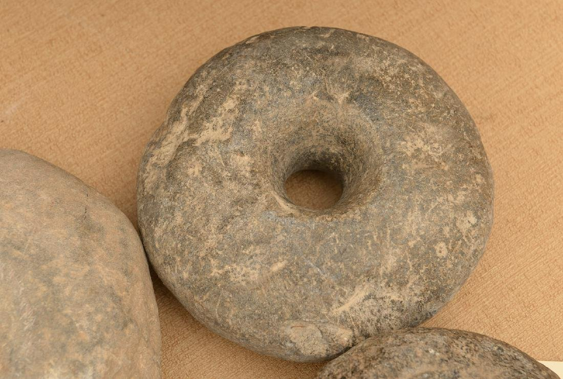 (6) ancient stone discoidals / mace heads - 2