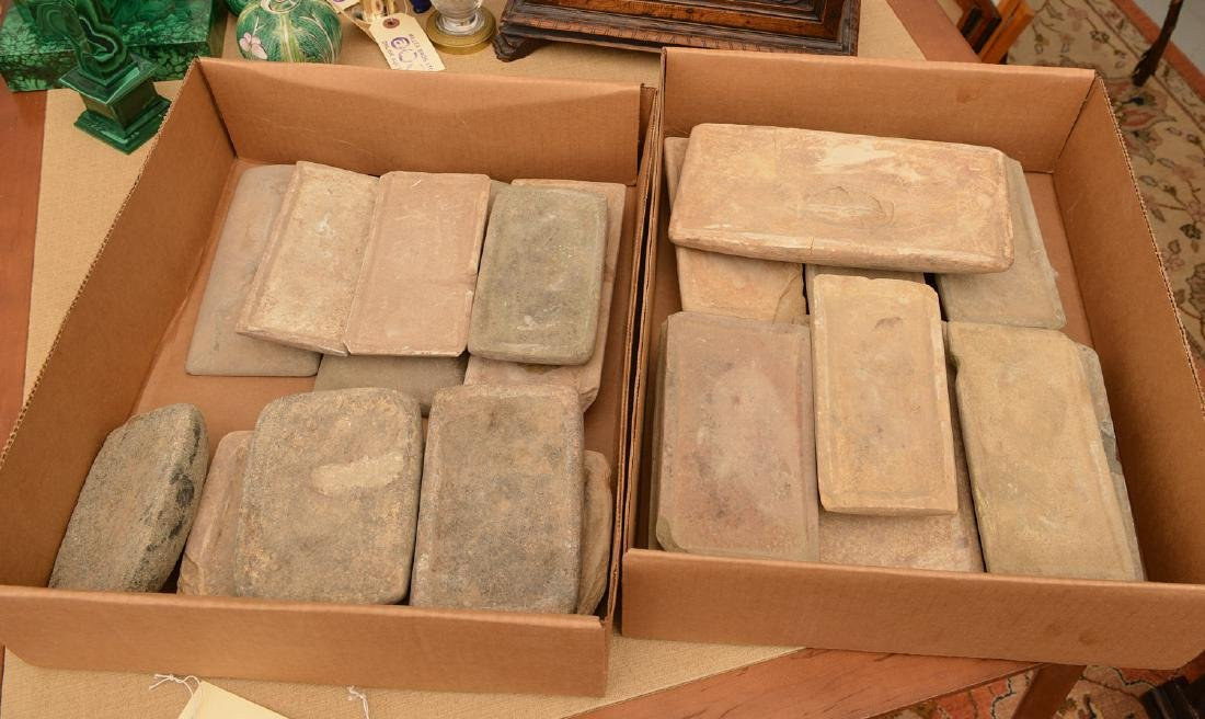 Collection (20) ancient stone tablets / metates