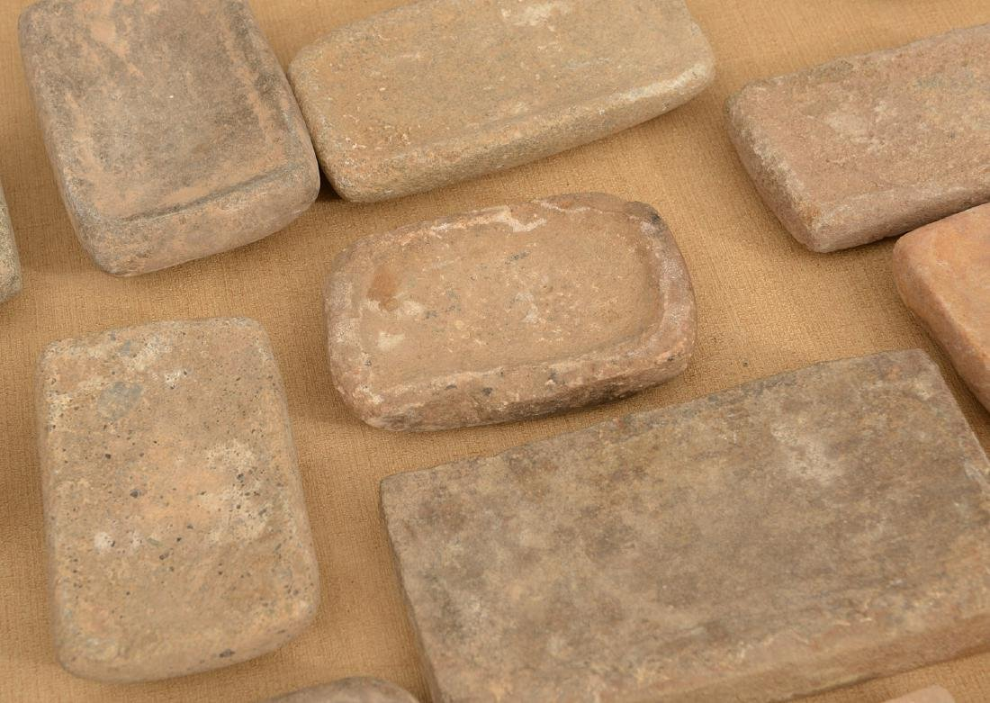 Collection (20) ancient stone tablets / metates - 3