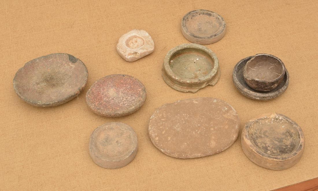 (10) ancient discoidals, nutting stones, & metates