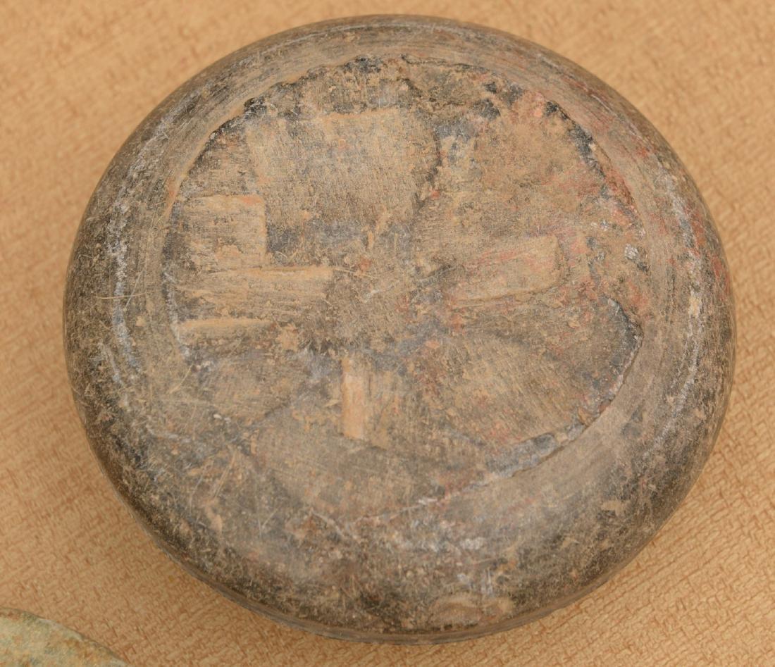 (10) ancient discoidals, nutting stones, & metates - 5