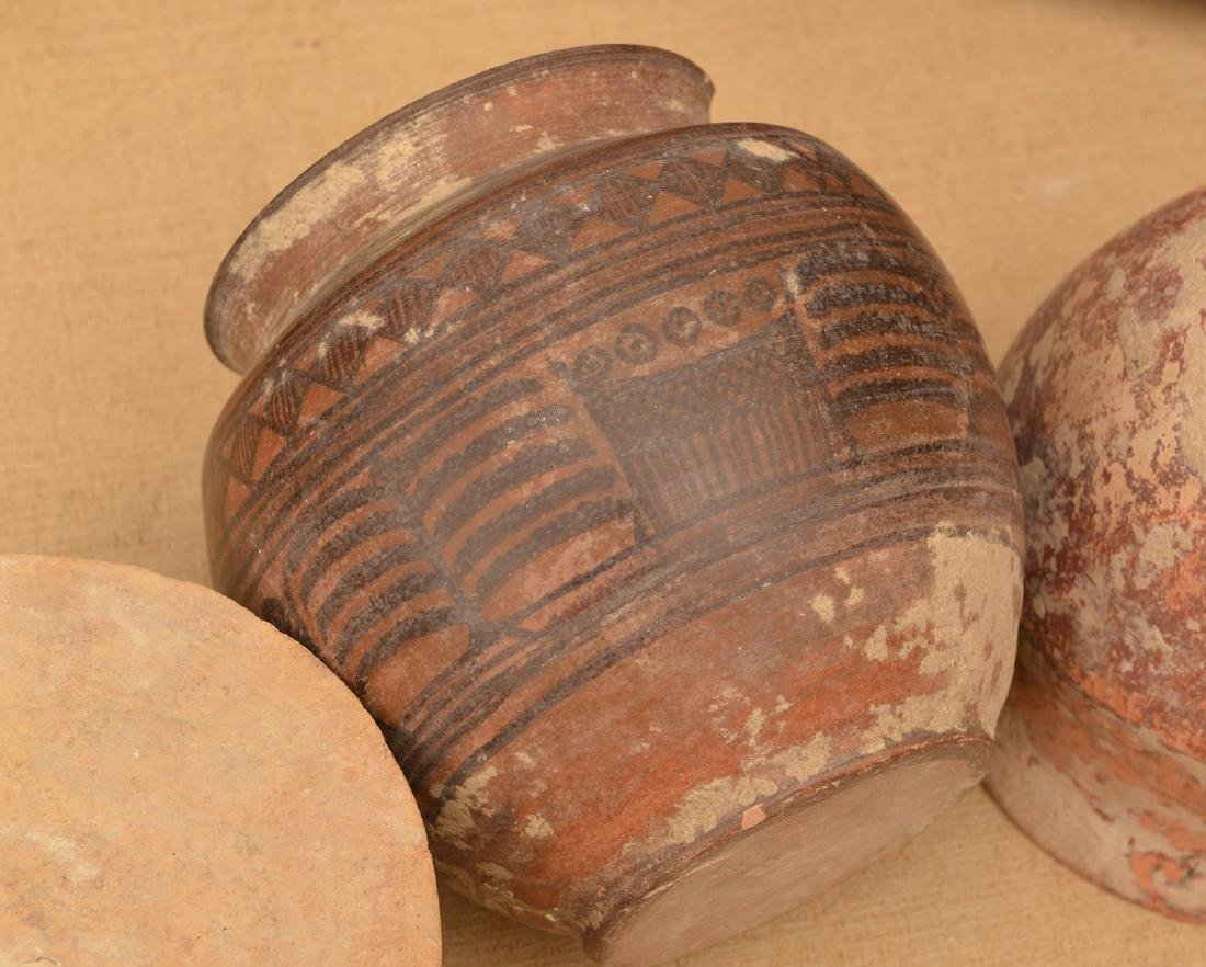 (9) ancient terra-cotta and pottery vessels - 7