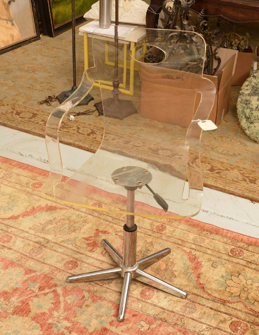 Vintage bent Lucite desk chair
