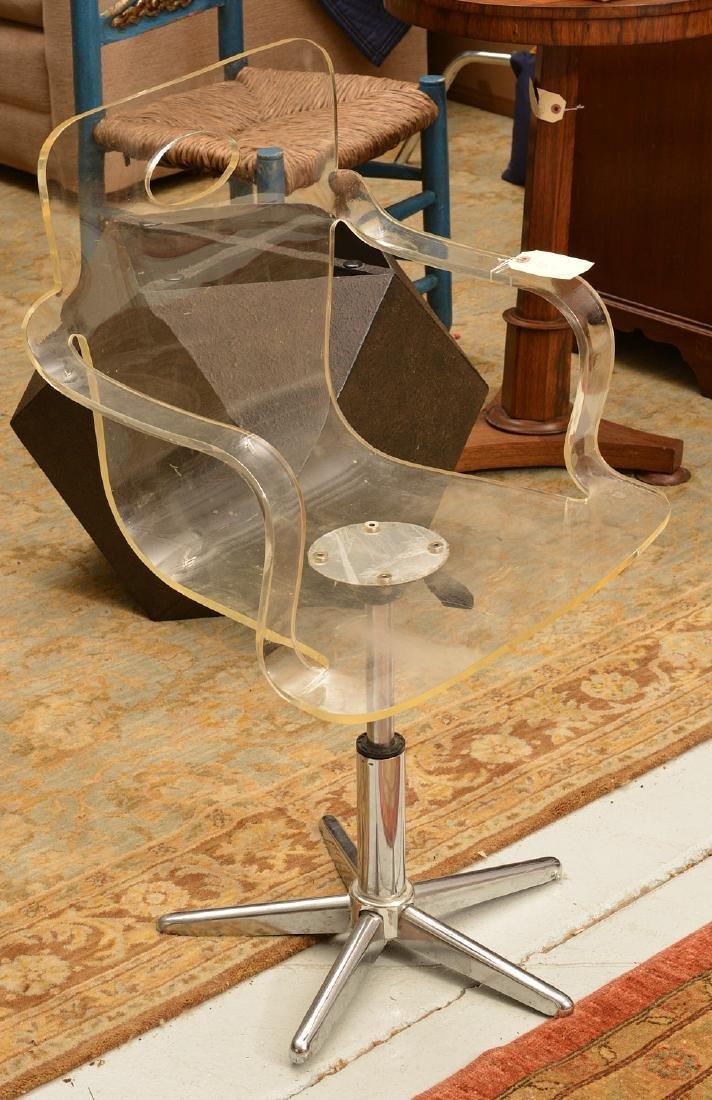 Vintage bent Lucite desk chair - 3