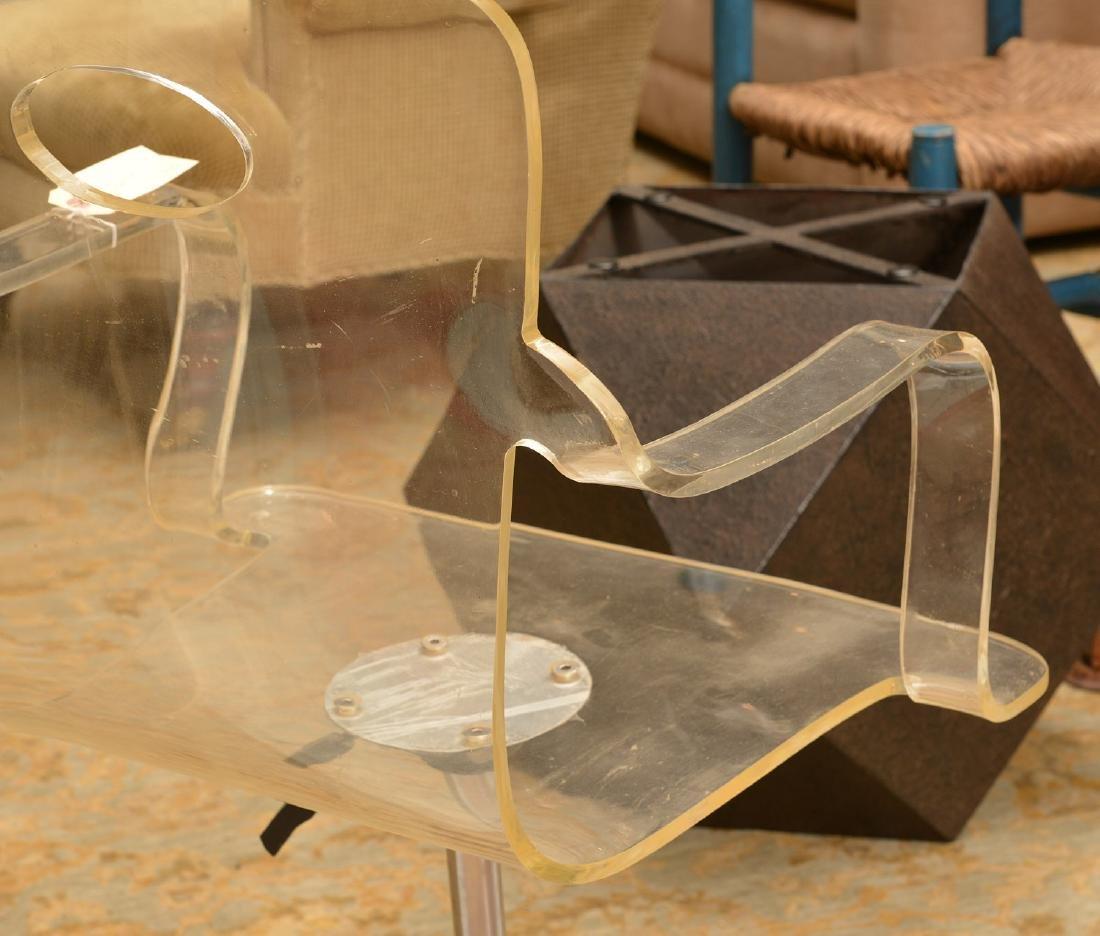 Vintage bent Lucite desk chair - 5