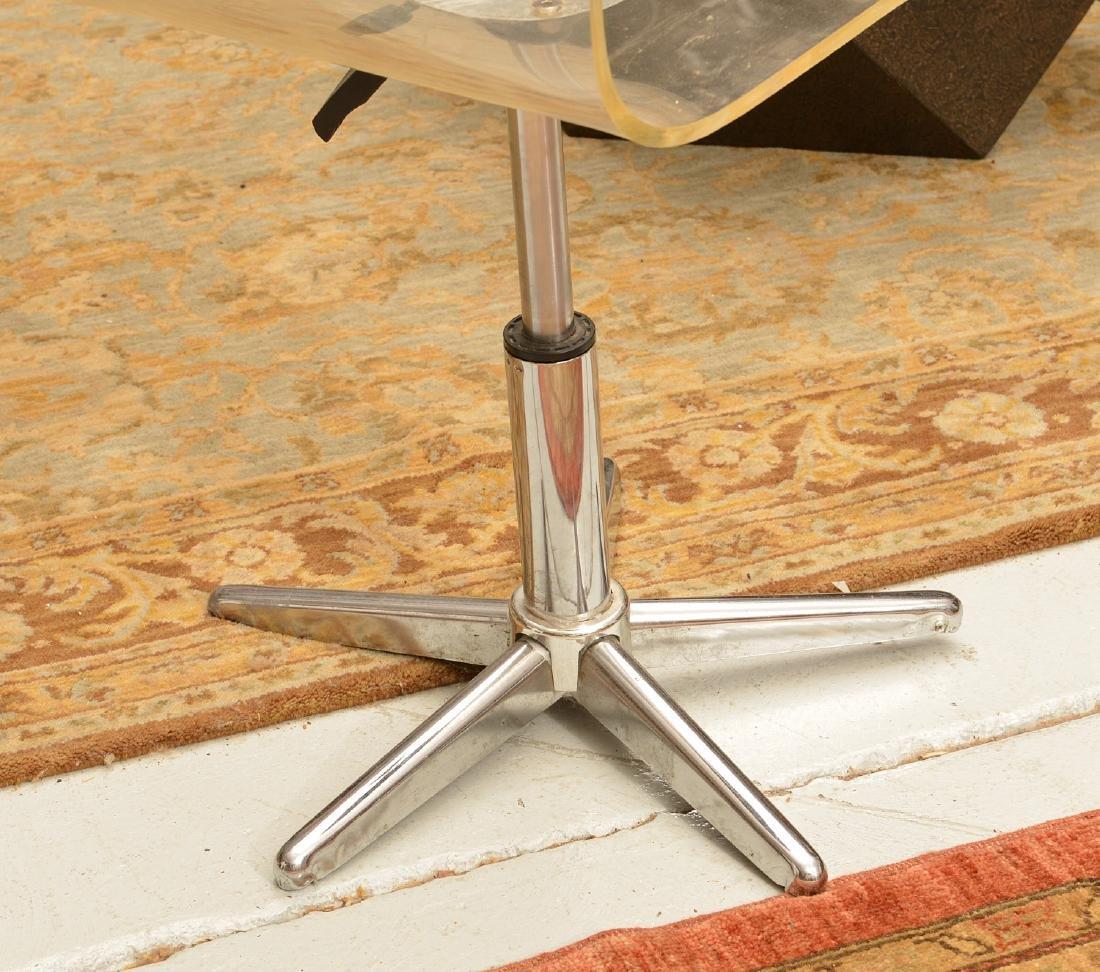 Vintage bent Lucite desk chair - 6