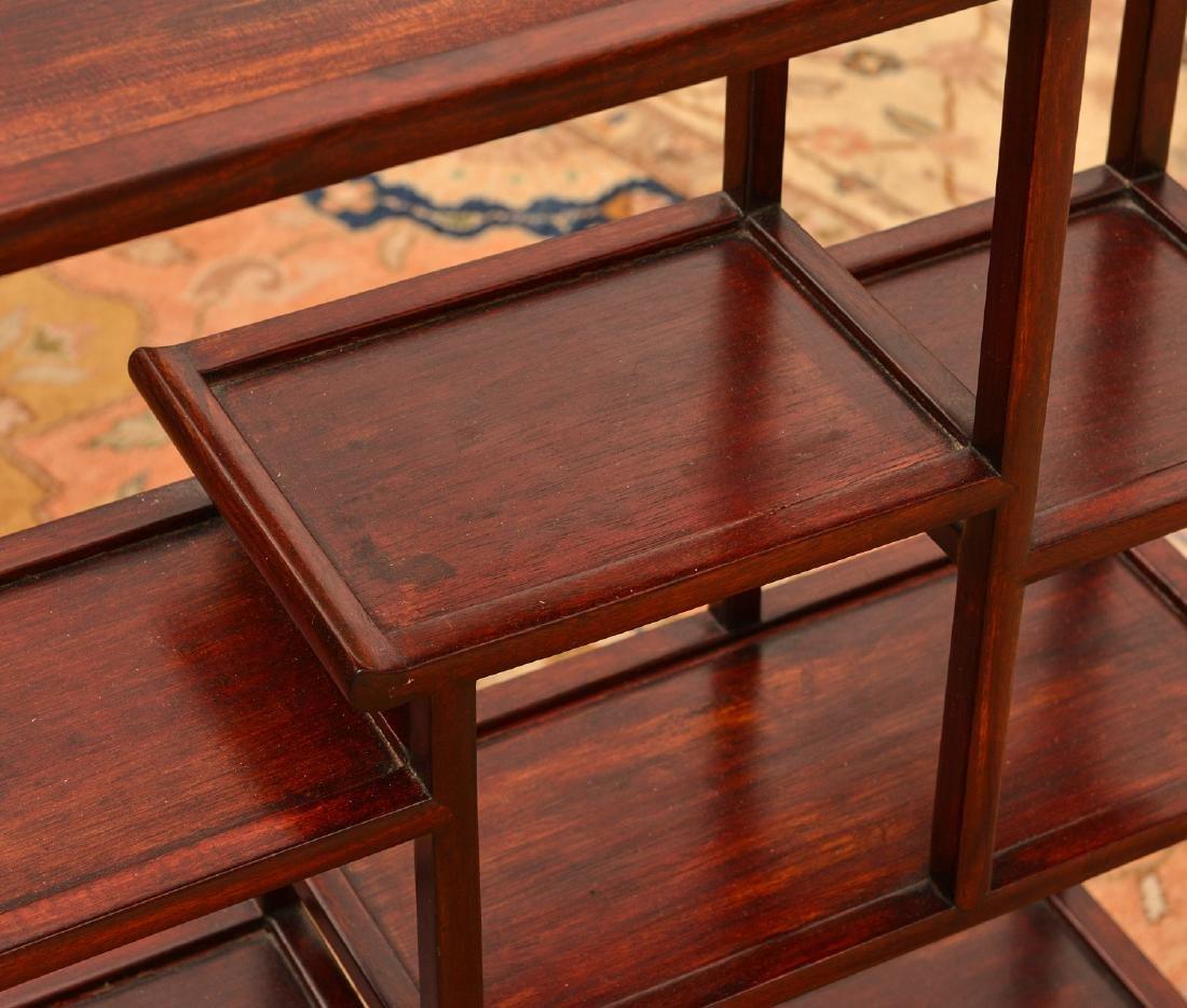 Chinese hardwood tabletop etagere - 2