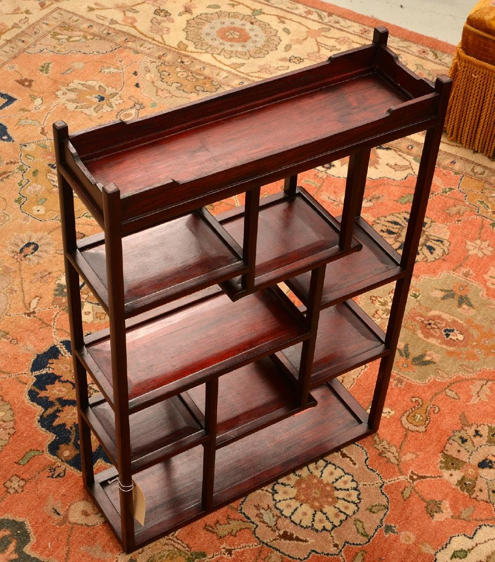 Chinese hardwood tabletop etagere - 3