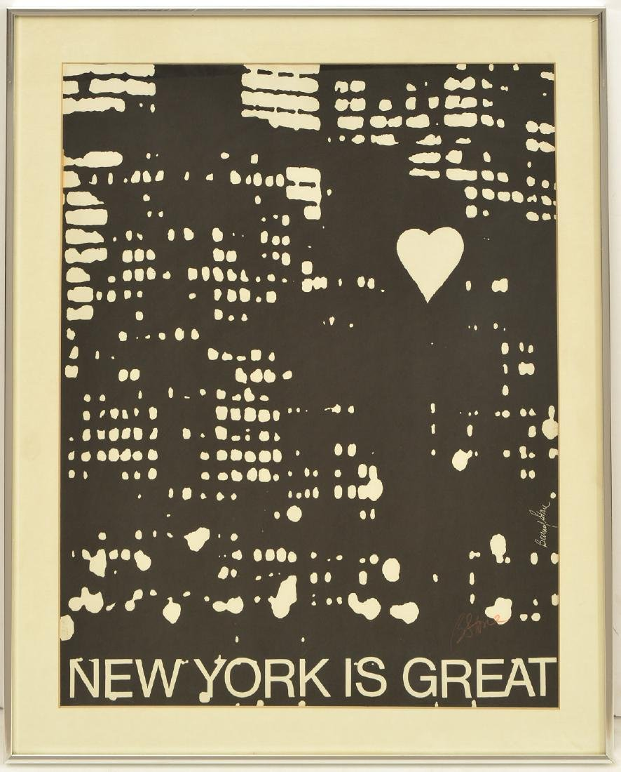 Bernard Stone, signed New York lithograph