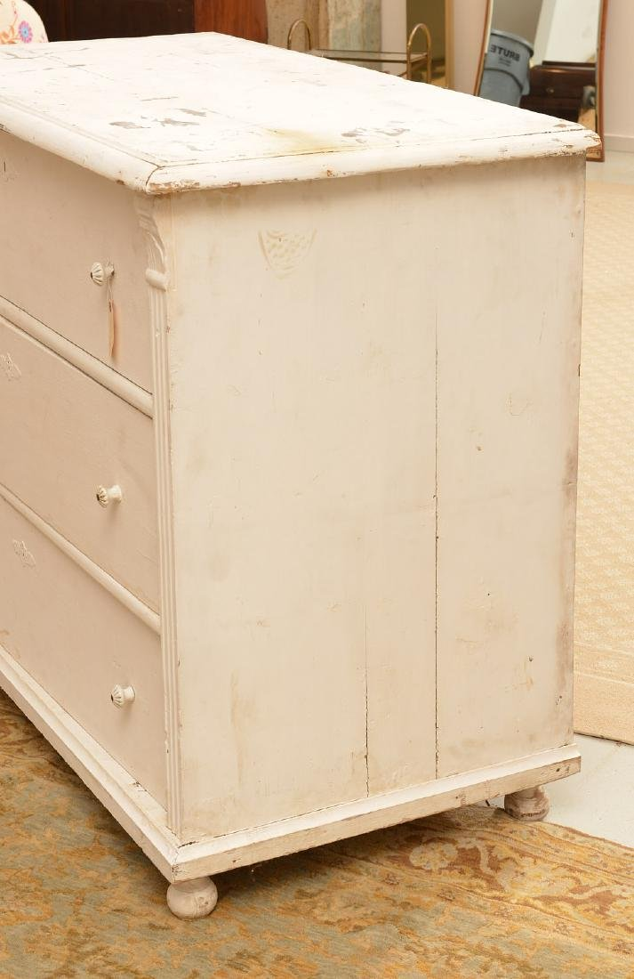 Large white-painted Shabby Chic chest of drawers - 5