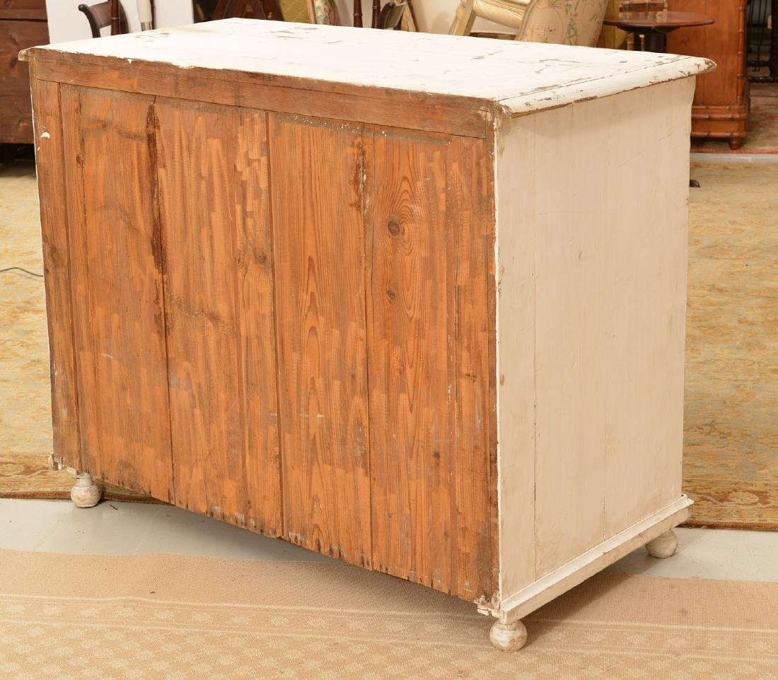 Large white-painted Shabby Chic chest of drawers - 6