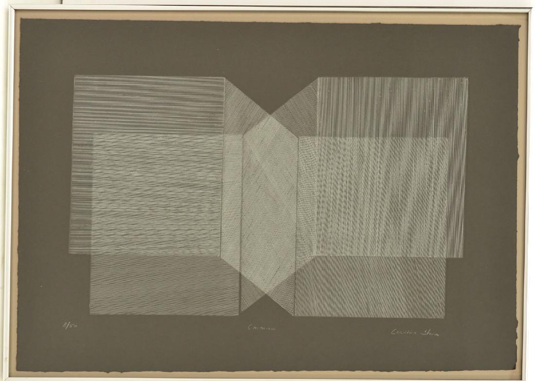 Caroline Stone, etching