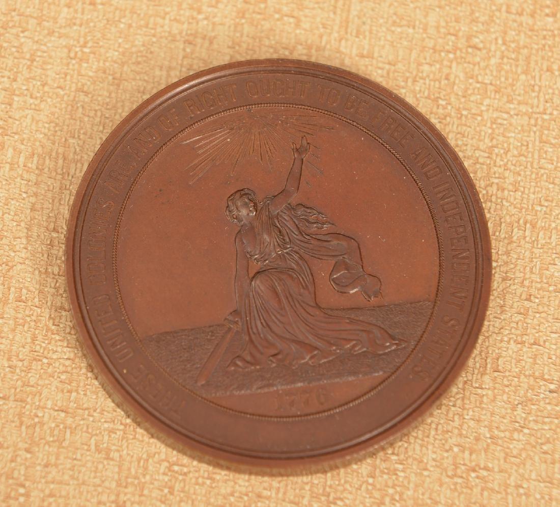 1876 United States Centennial bronze medal