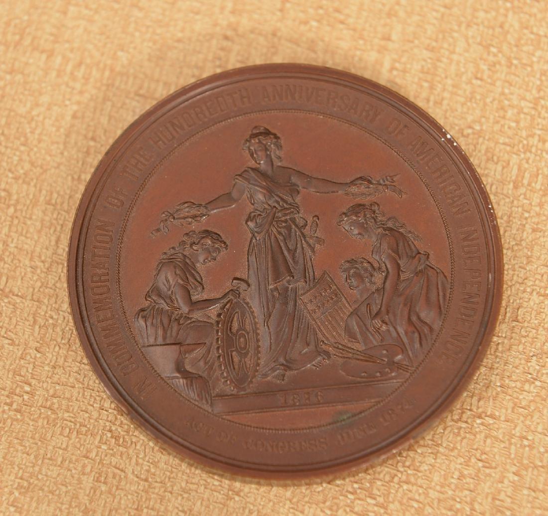 1876 United States Centennial bronze medal - 2