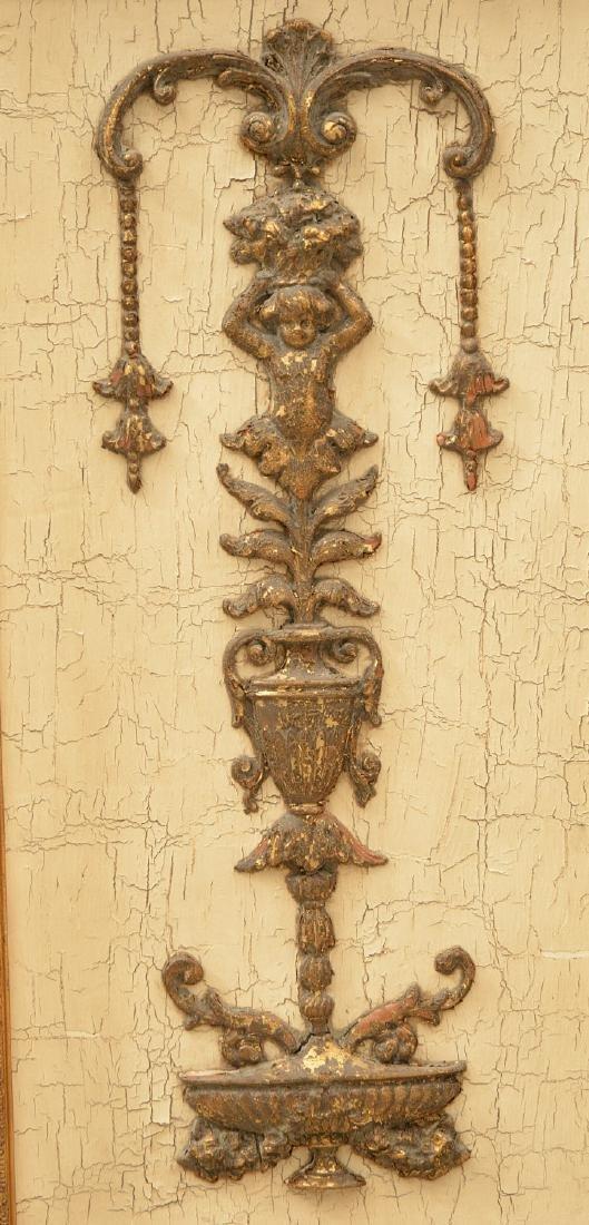 Pair John-Richard parcel gilt wall appliques - 3