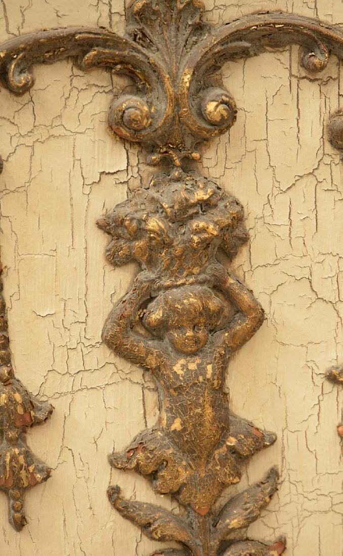 Pair John-Richard parcel gilt wall appliques - 4