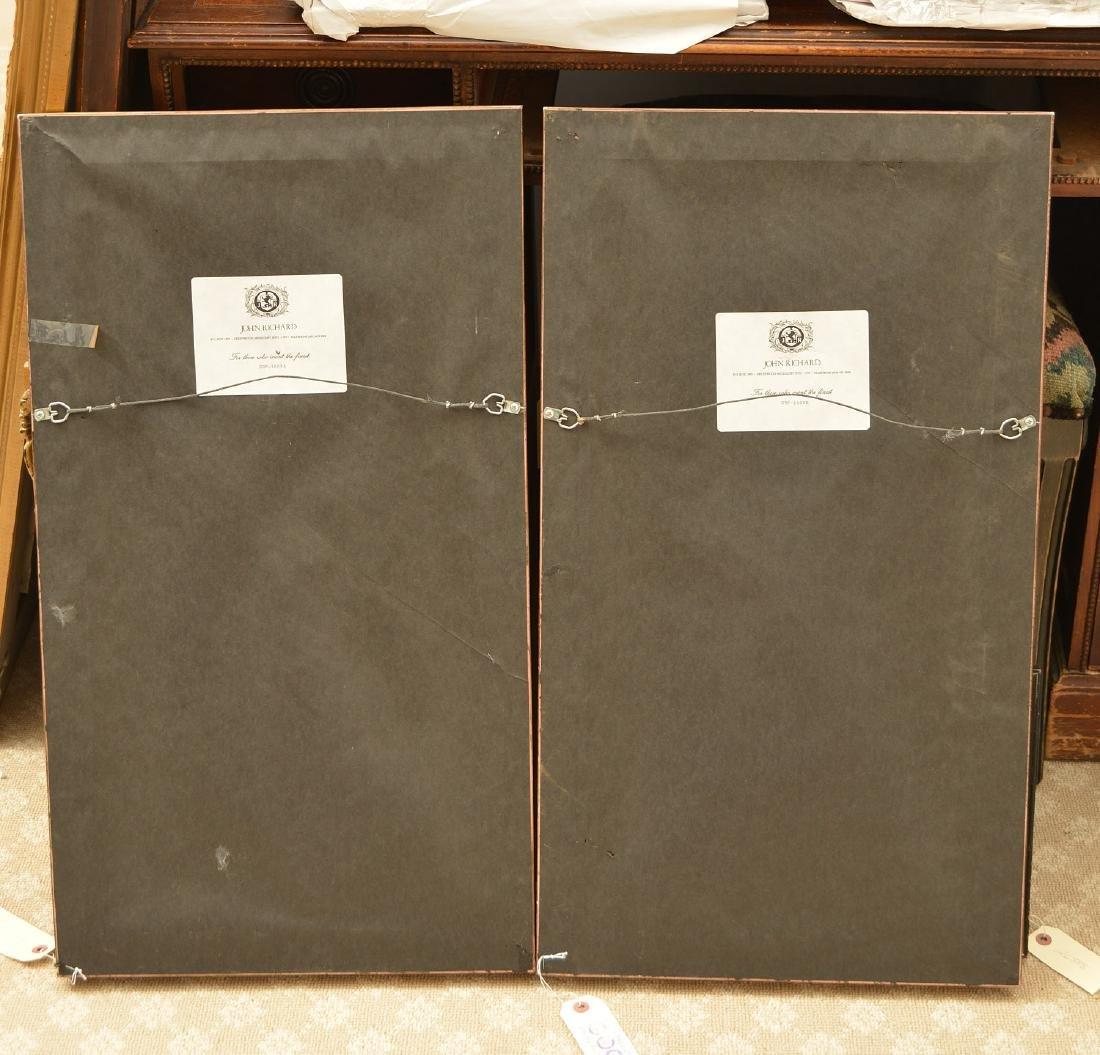 Pair John-Richard parcel gilt wall appliques - 6