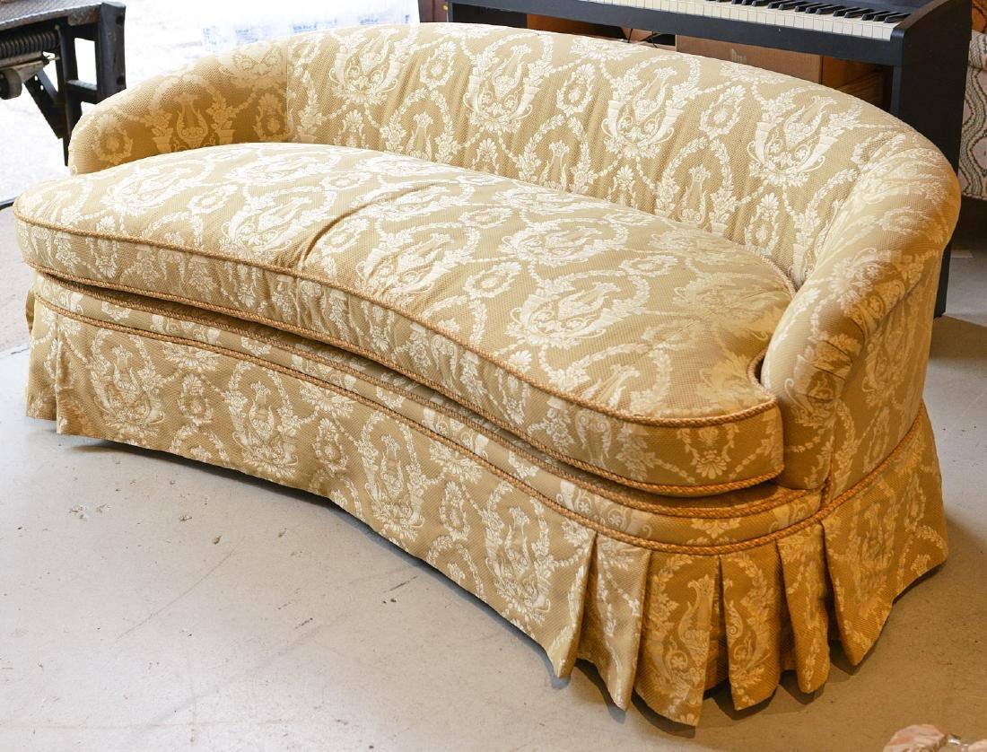 O. Henry House damask upholstered sofa