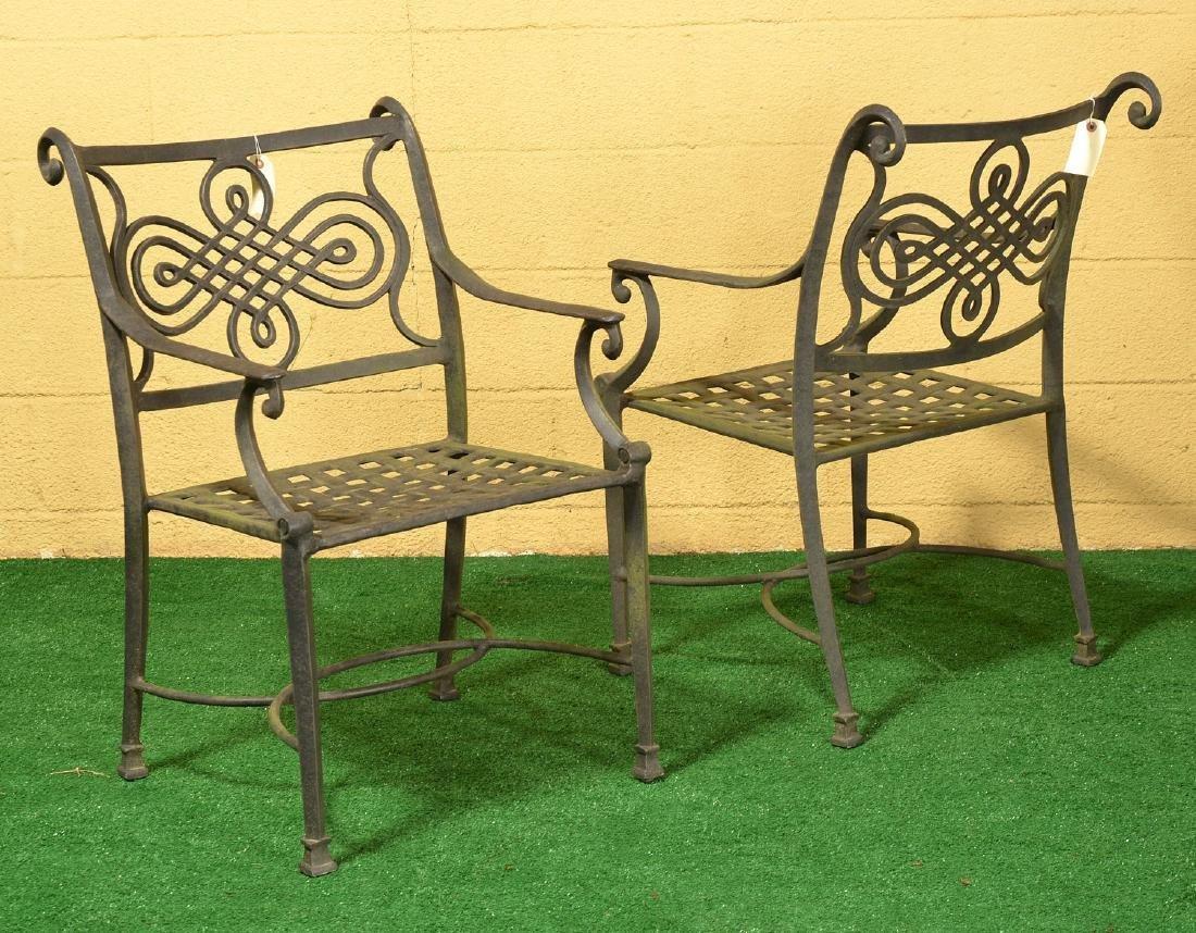 Restoration Hardware style patio dining set - 3