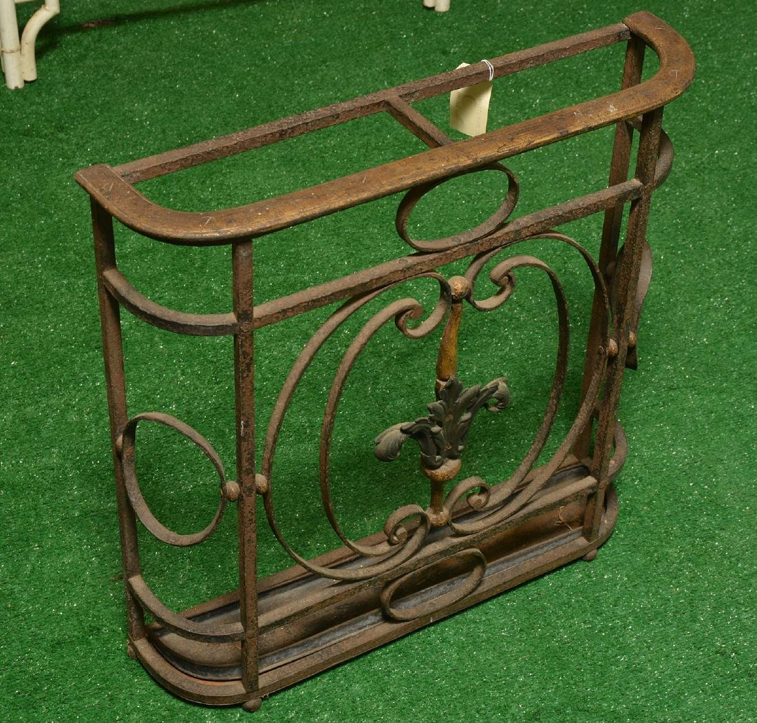 Oscar Bach style wrought iron umbrella stand