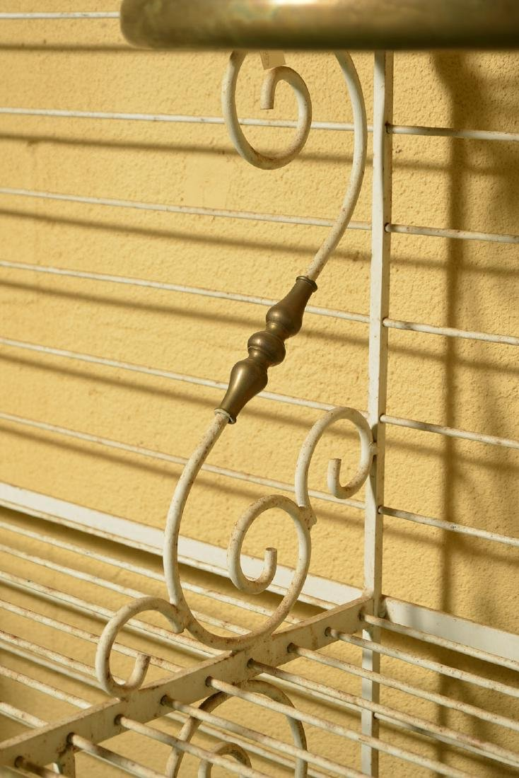 French brass and painted wrought iron baker's rack - 3
