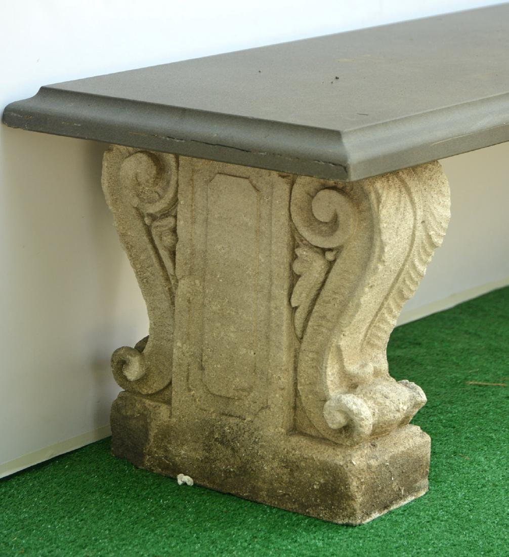 Cast stone and composite garden bench - 2