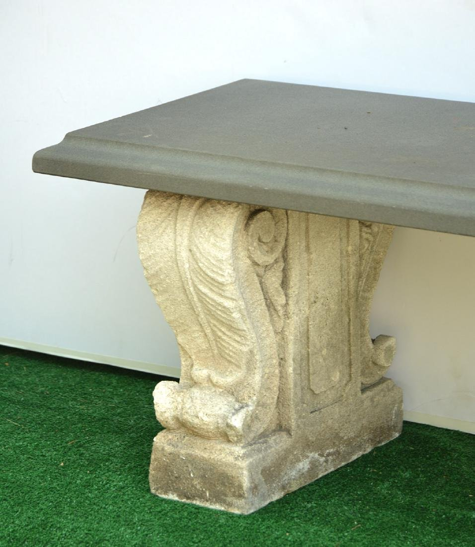 Cast stone and composite garden bench - 3