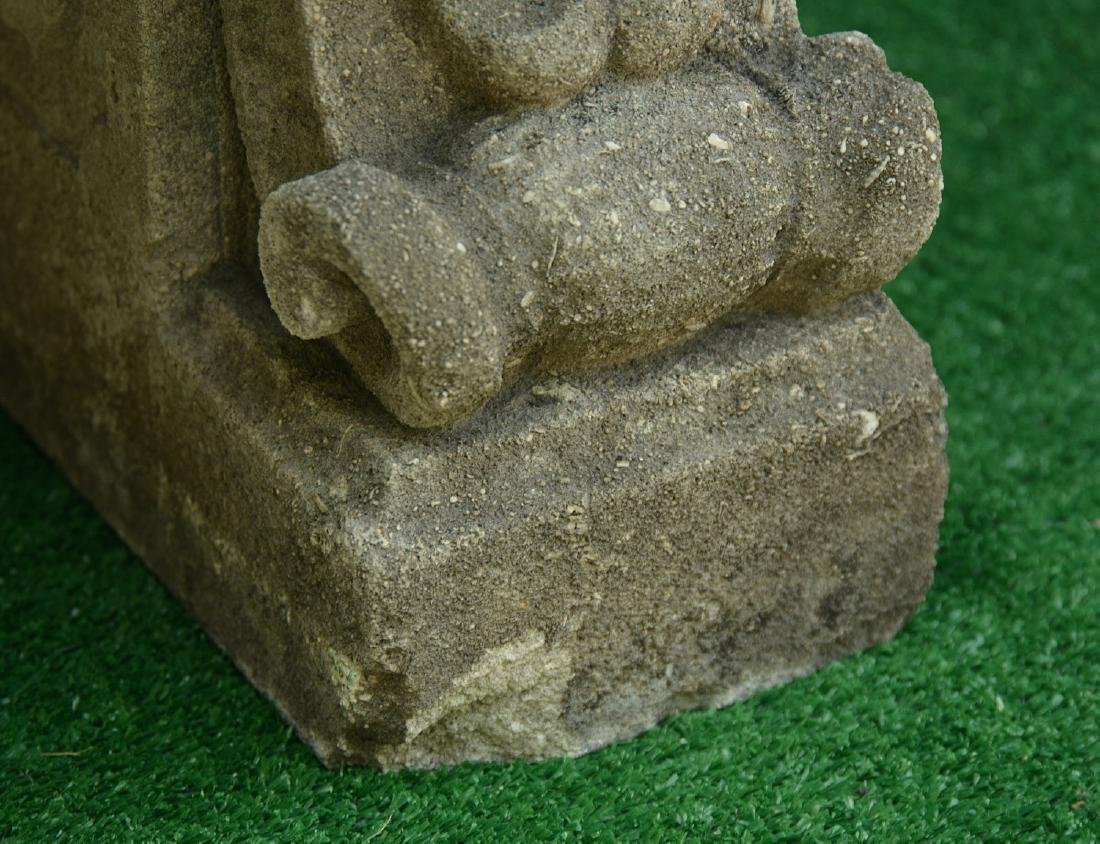 Cast stone and composite garden bench - 4