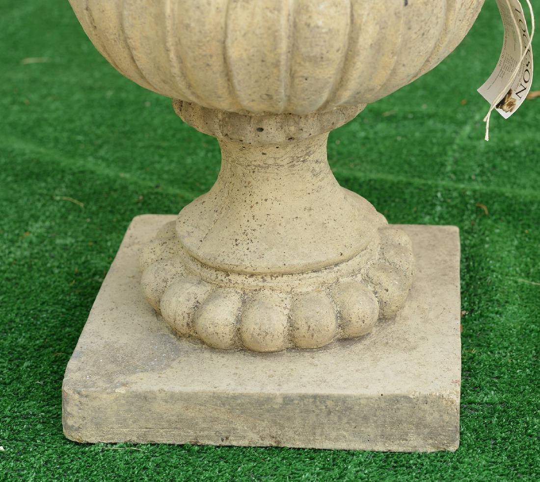 Cast stone campana form garden urn - 2