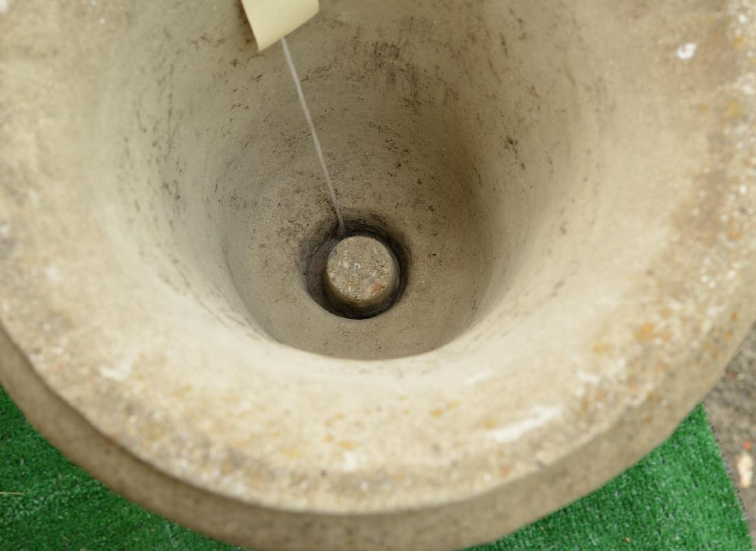 Cast stone campana form garden urn - 3