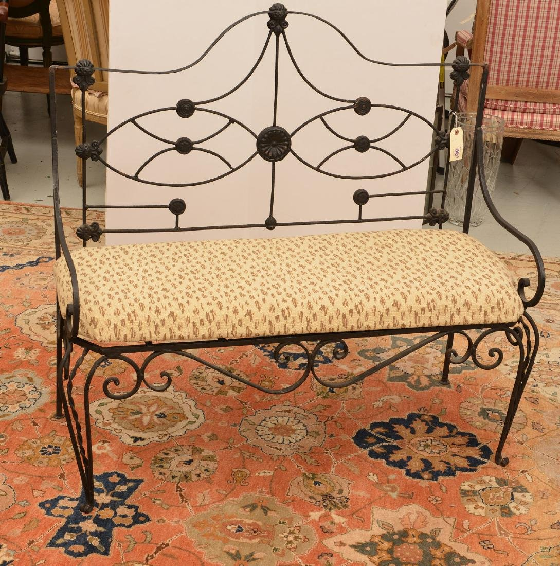 Victorian wrought and cast Iron bench