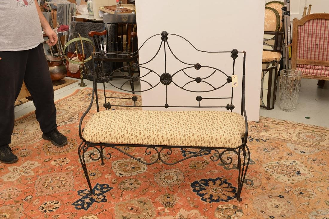 Victorian wrought and cast Iron bench - 2