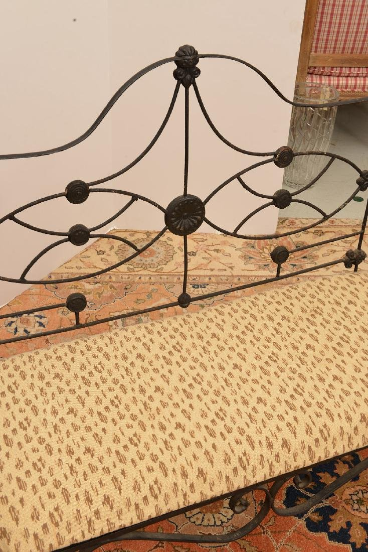 Victorian wrought and cast Iron bench - 3