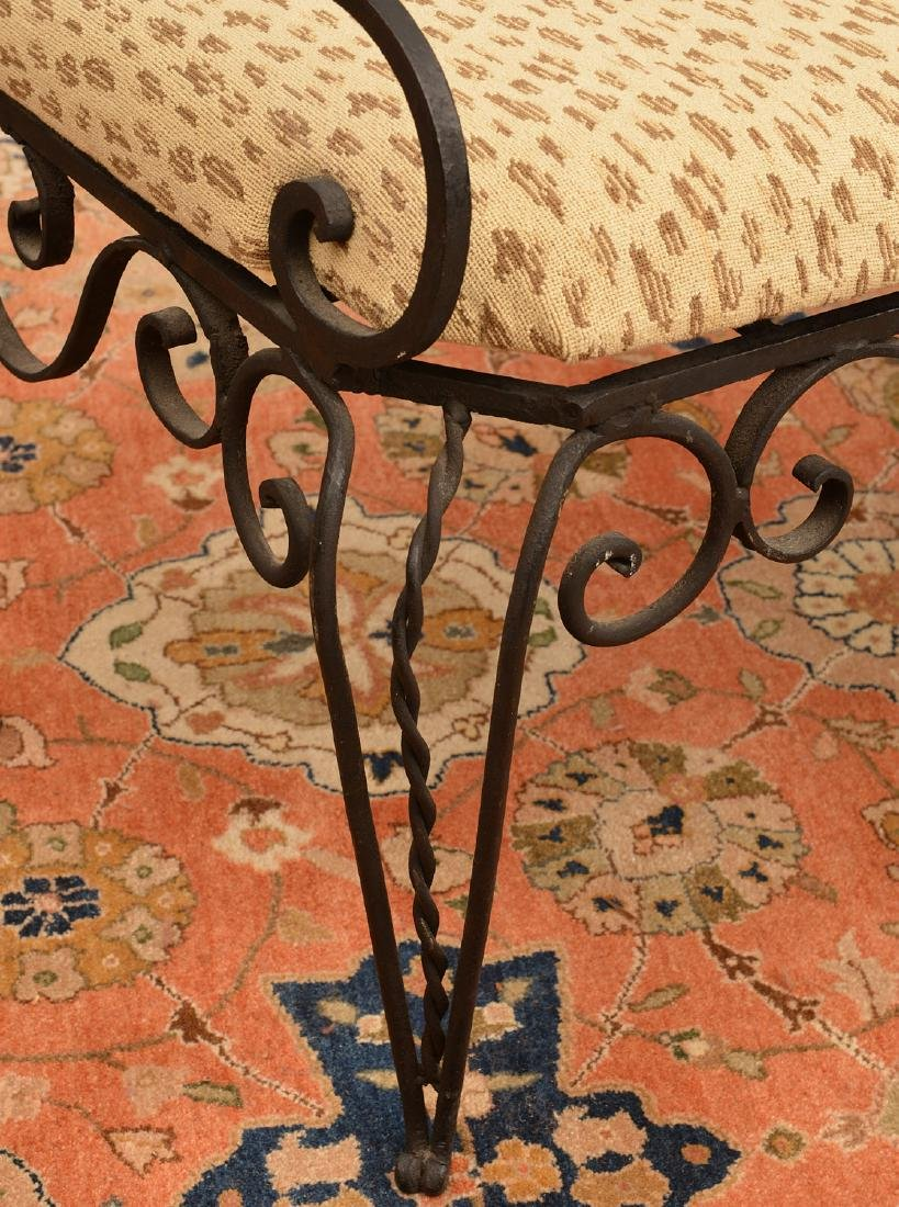 Victorian wrought and cast Iron bench - 4