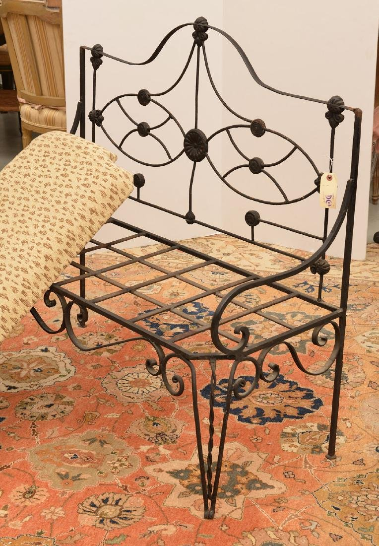 Victorian wrought and cast Iron bench - 6