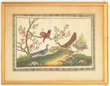 Chinese School pith painting