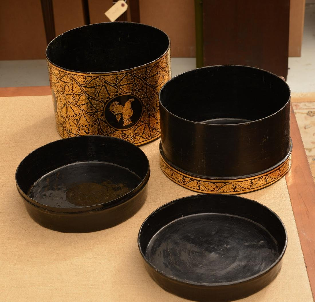 (8) Tibetan gilt and lacquered tablewares - 6