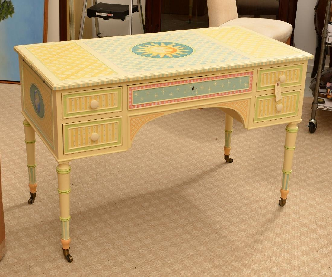 Mackenzie-Childs style whimsical painted desk